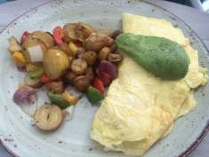 Omelette with Dungeness Crab