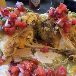 Breakfast Burrito with Green Chili