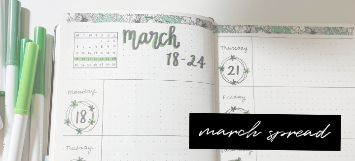 March Bullet Journal Spread